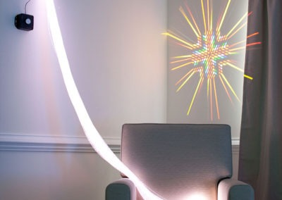 Light Strands, Projection, and Chair